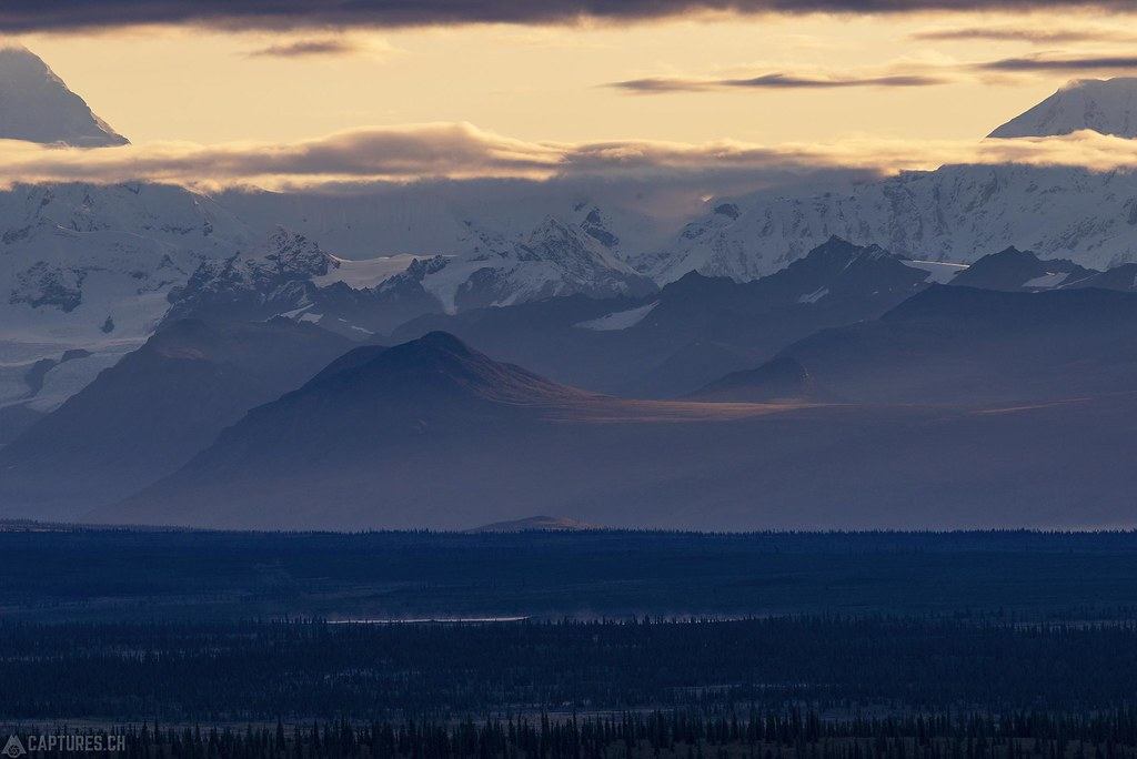 Morning ligth in the Alaska Range