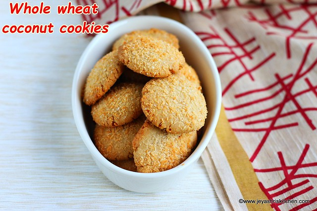 Whole wheat coconut cookies