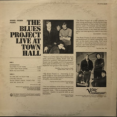 THE BLUES PROJECT:THE BLUES PROJECT LIVE AT TOWN HALL(JACKET B)