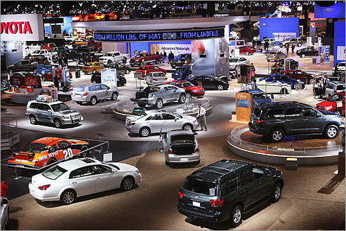 Toyota exhibit at the Cleveland Auto Show