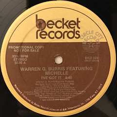 WARREN G. BURRIS FEATURING MICHELLE:I'VE GOT IT(LABEL SIDE-A)