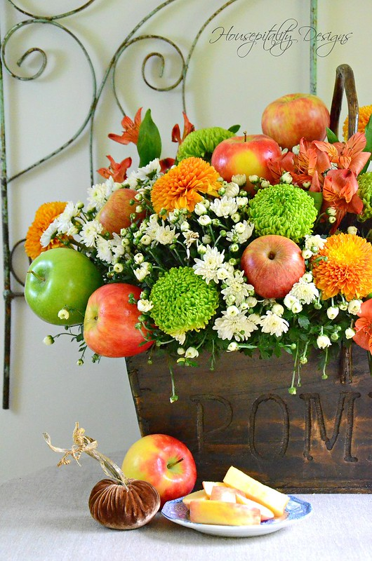 Fall Apple Centerpiece-Housepitality Designs