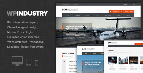 WP Industry v1.5 – Industrial & Engineering WP theme