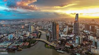 Saigon/Hochiminh City from above