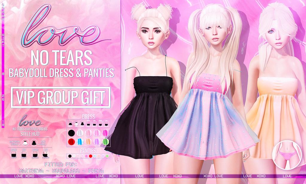 Love [No Tears Babydoll Dress & Panties Set] VIP GROUP GIFT