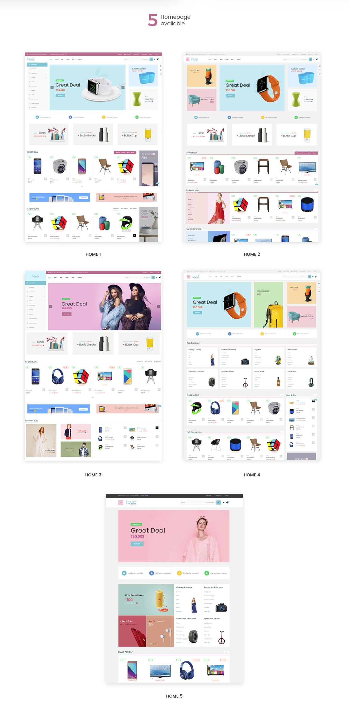 Leo Liquid - MultiStore Prestashop theme for Hitech, Fashion, Beauty, Furniture