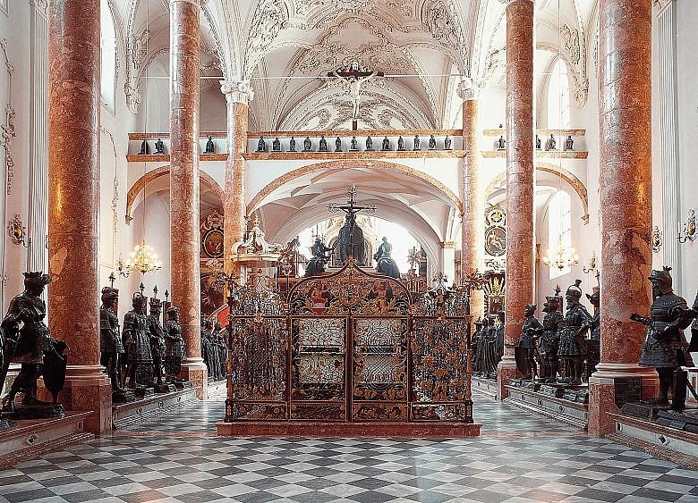 Cenotaph of Emperor Maximilian I, Hofkirche, Innsbruck, Austria.