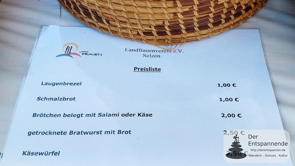 Preisliste Landfrauenverein Selzen