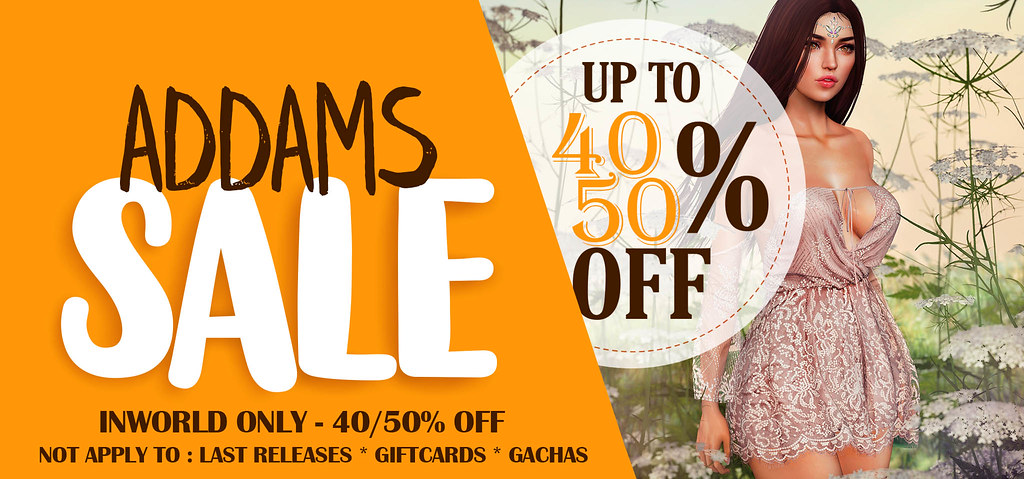 ADDAMS END OF SUMMER SALE!