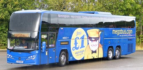 YX66 WNP 'Stagecoach Midlands' No. 54283. Volvo B11RT / Plaxton Elite i on Dennis Basford's railsroadsrunways.blogspot.co.uk'