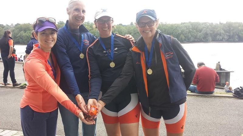 Winning women's masters 4x
