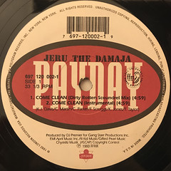JERU THE DAMAJA:COME CLEAN(LABEL SIDE-A)