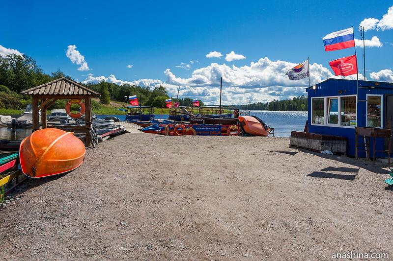 Пристань в Берёзово, Ладожское озеро