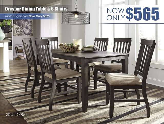 Dresbar Dining Table & 6 Chairs_D485-25-01(6)-L000098