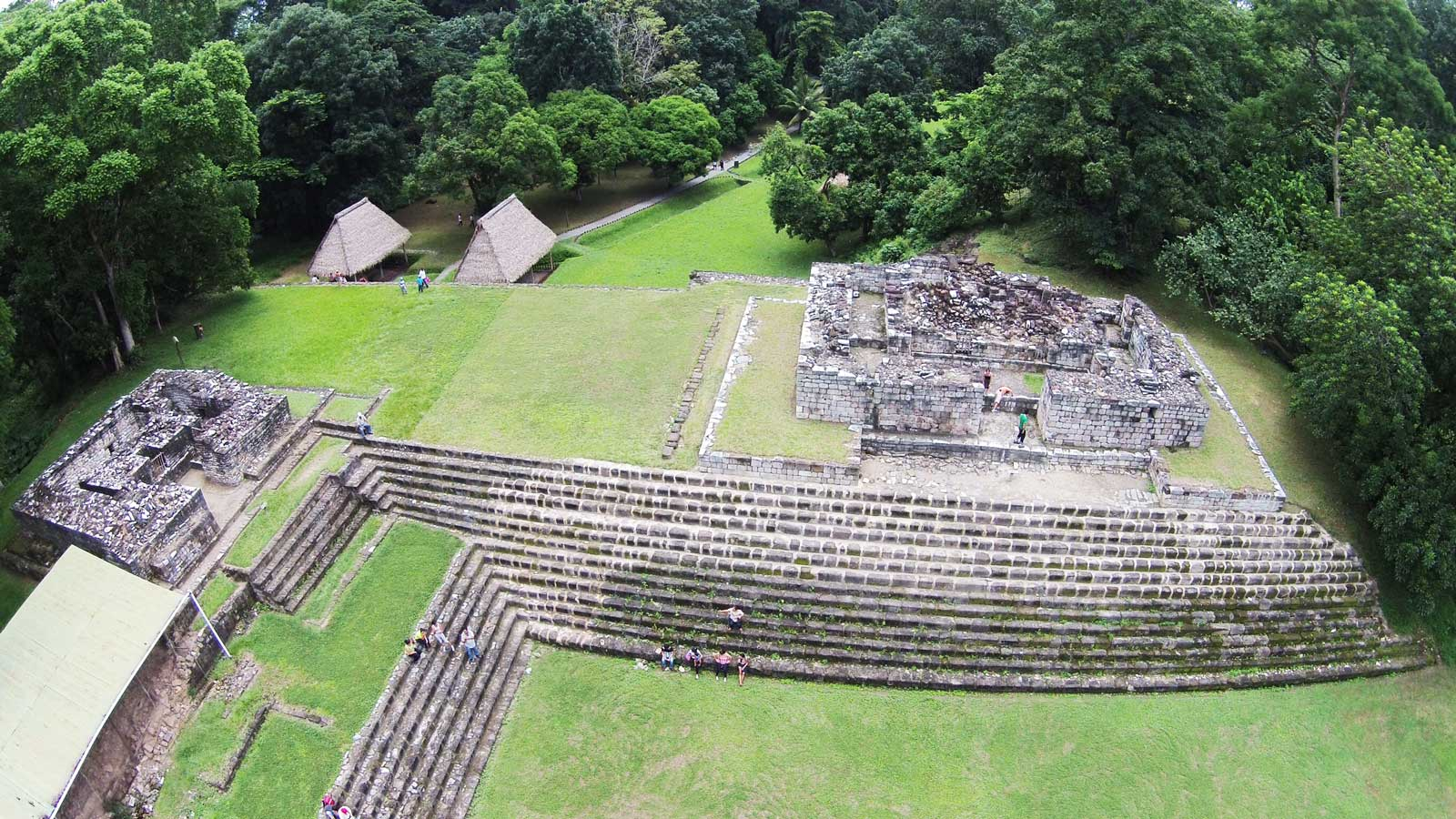 Aerial view of the central ceremonial area of Quiriguá, Guatemala