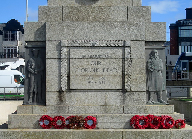 Blackpool War Memorial Figures and Dedication