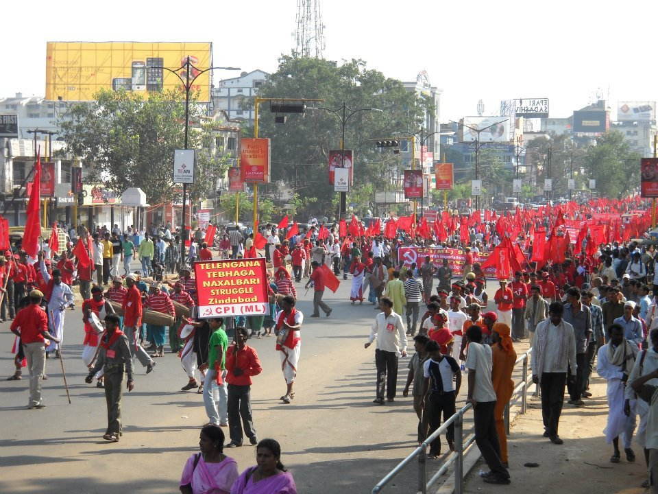 Bhubaneswar, Orissa, India Kick-off rally for the Ninth Congress of the Communist Party of India (Marxist-Leninist) - Red Star, marking the 94th anniversary of the Bolshevik Revolution, Nov. 7, 2011.