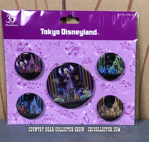 2018 Celebrate Tokyo Disneyland Button Set - Country Bear Collector Show #168