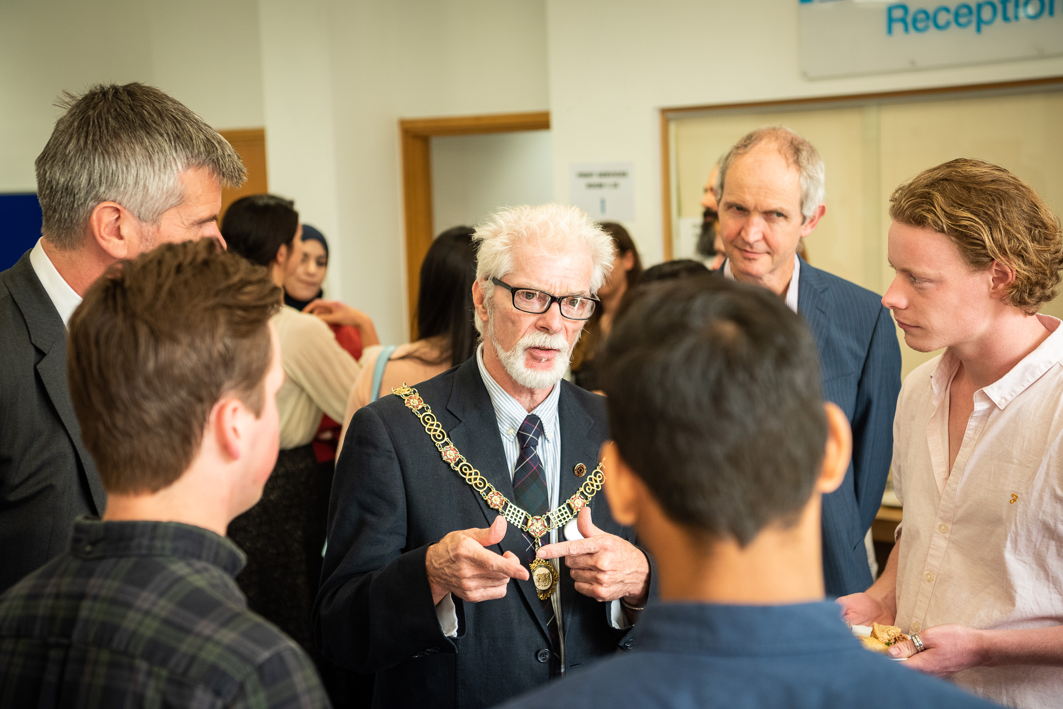Students and staff from the School discussed their areas of research with the Mayor