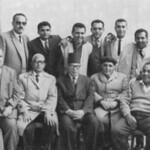 في أواخر السبعينيات مع أساتذة الكلية الاكليريكية، بمناسبة ترك الشماس يوسف حبيب التدريس في الكلية