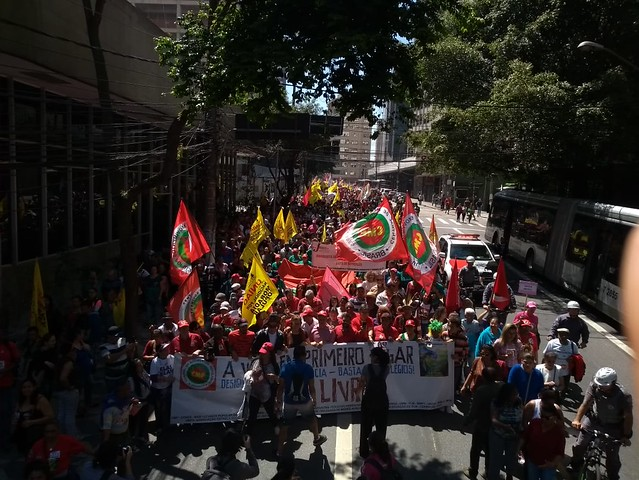 Demonstrators gathered in São Paulo for the 2018  Cry of the Excluded - Créditos: Rute Pina