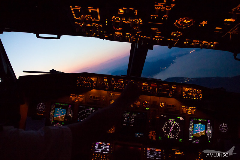 Approach into CFU during sunset