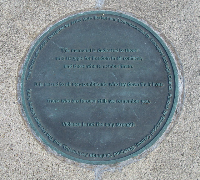 Blackpool War Memorial Ground Plaque