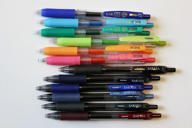 Zebra Sarasa Clip Gel Pens @ZebraPen @ZebraPenUK 4