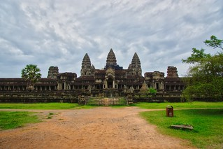 Angkor Wat seen from the East near Siem Reap, Cambodia