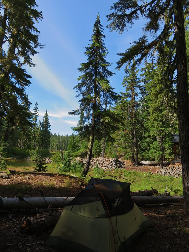 Campsite near Waldo Lake