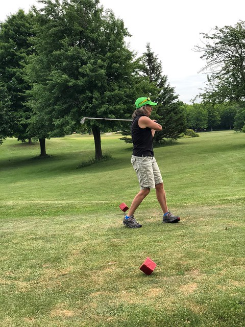 Owen Sound - Linda golfing