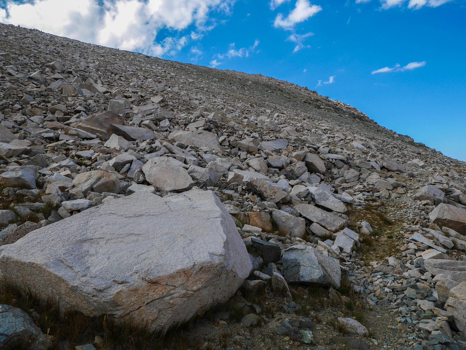 Use trail through talus up to Junction Pass