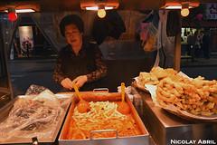 Street food stalls in Seoul