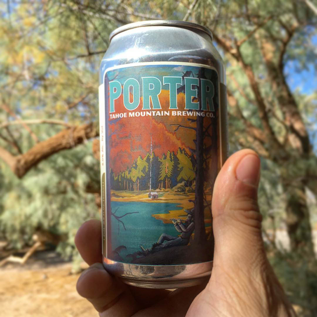 https://www.instagram.com/p/BgU1auJA0c2/ Can of Tahoe Mountain Brewing's Porter in the hand
