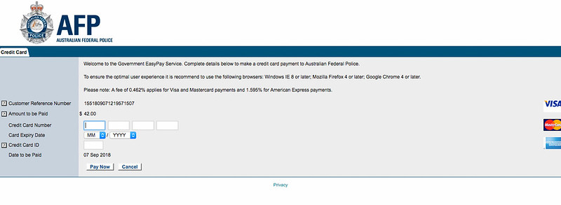 澳洲良民證申請
