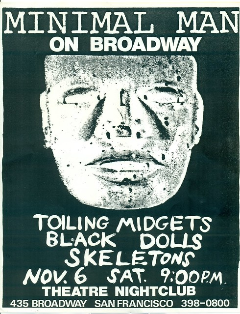MINIMAL MAN, TOILING MIDGETS, BLACK DOLLS, SKELETONS AT THE ON BROADWAY THEATRE NIGHTCLUB, SAN FRANCISCO, CA 1981