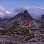 13. Juuli 2018 - 21:35 - An einem bewölkten Abend in den Dolomiten an den Drei Zinnen