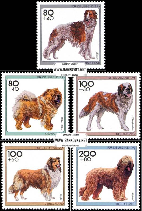 Známky Nemecko 1996 Plemená psov, nerazítkovaná séria
