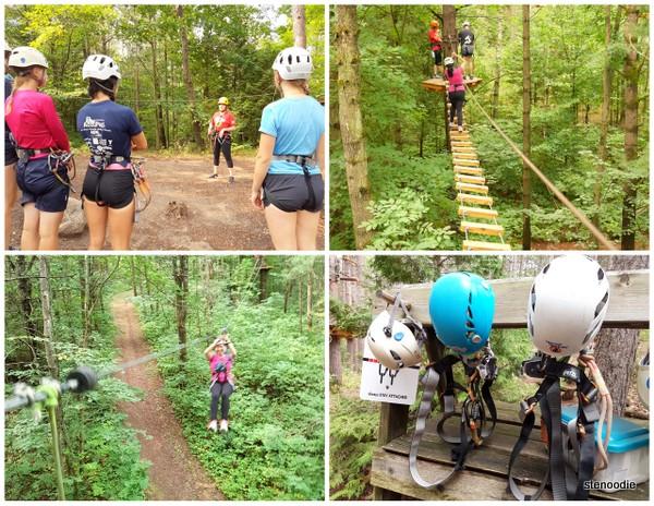 Treetop Trekking Ganaraska collage