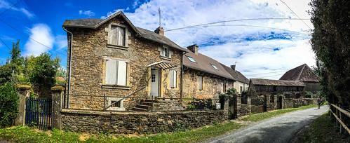 The beautiful properties in rural France.