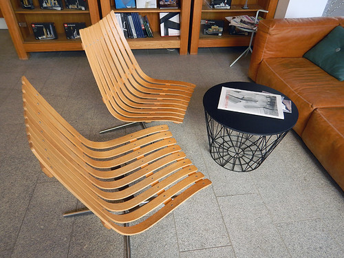 Danish design furniture in the Utzon Centre in Aalborg, Denmark