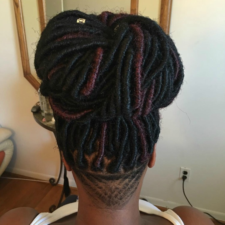 Undercuts With Box Braid Twist And Loc Extensions