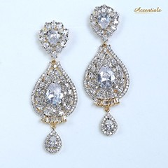 Elegant Traditional Gold Plated Antique Jewellery Set