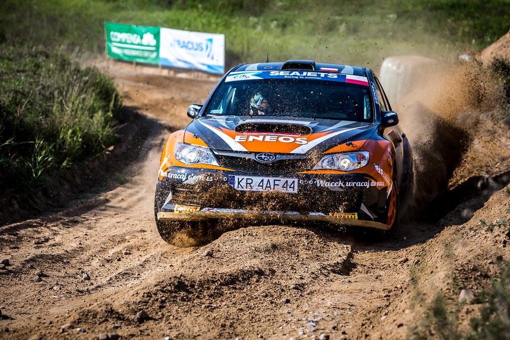 20 SLOBODZIAN Marcin (POL), DACHOWSKI Grzegorz (POL), SUBARU POLAND RALLY TEAM, Subaru Impreza STI RGT, action during the 2018 European Rally Championship Rally Poland at Mikolajki from September 21 to 23 - Photo Thomas Fenetre / DPPI