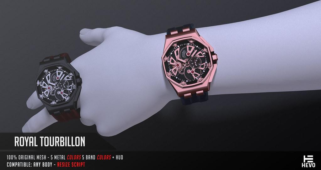HEVO - Royal Tourbillon Watch @ the LEVEL - TeleportHub.com Live!