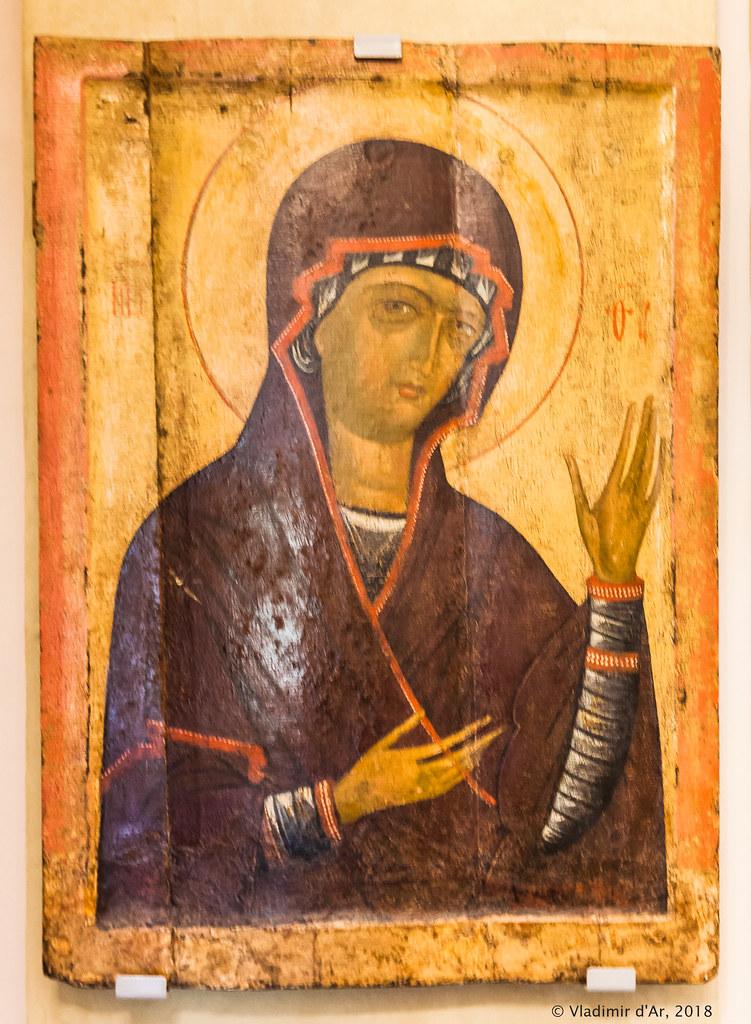 Икона Богоматери из села Ободова. Первая половина XV в.