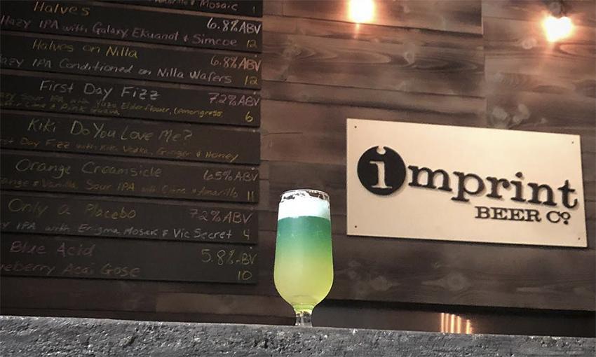 Сине-зелёное пиво из сладкого детского напитка