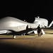Airmen work on an RQ-4 Global Hawk after it returned to Beale Air Force Base, Calif., as part of a four-ship rotation out of the theater. (U.S. Air Force photo/John Schwab)