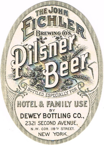 Pilsner-Beer-Labels-John-Eichler-Brewing-Company--2nd-Brewery