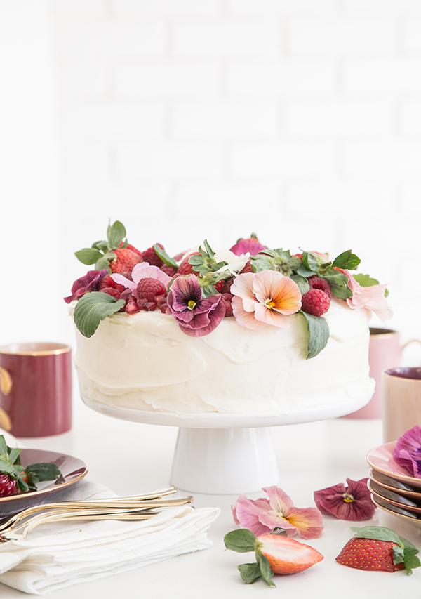 Pink Velvet Cake Recipe Easy way to Decorate it